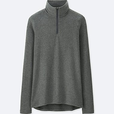 WOMEN HEATTECH STRETCH FLEECE HALF ZIP T-SHIRT