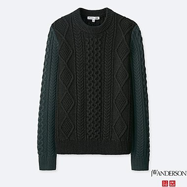 MEN J.W.ANDERSON CABLE CREW NECK SWEATER