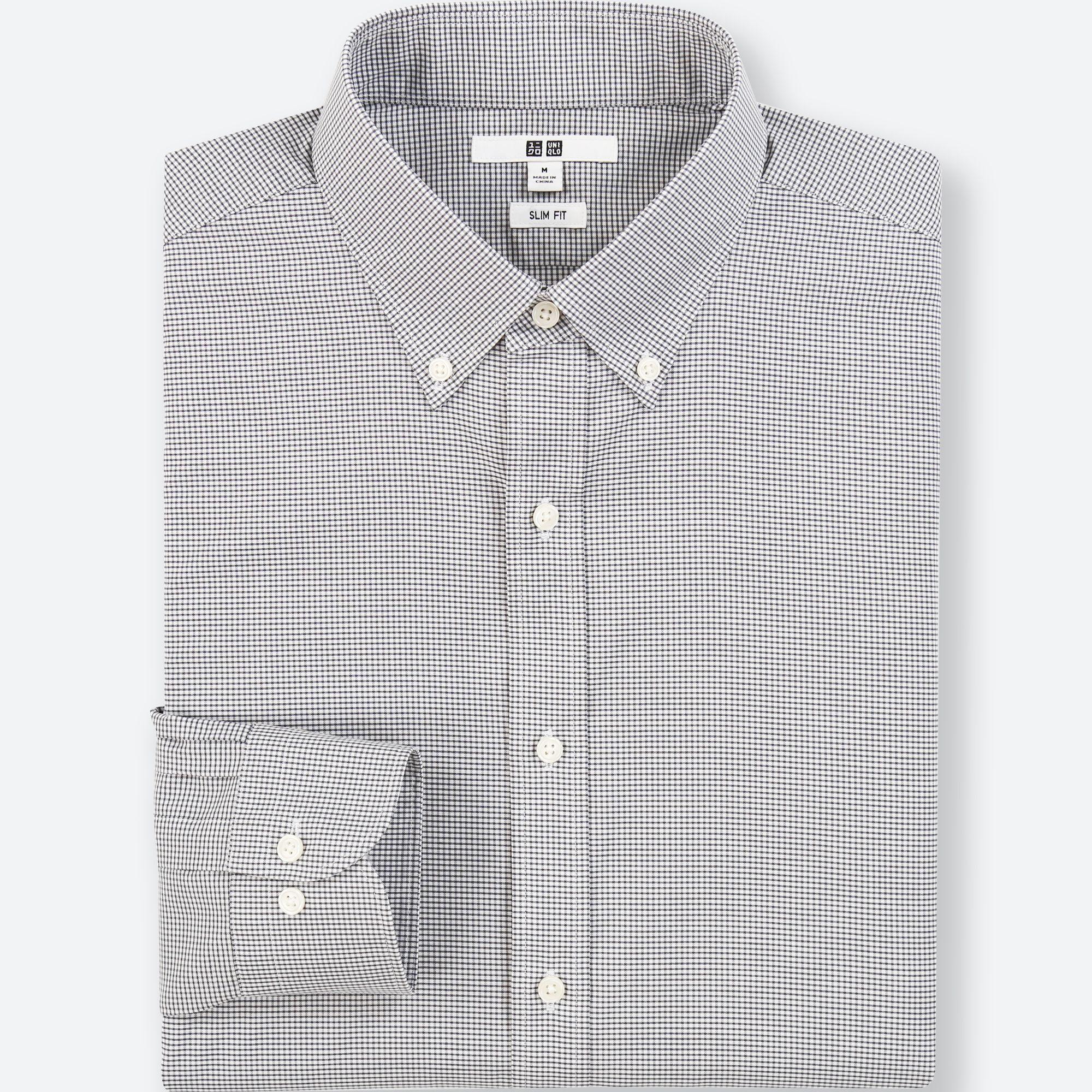 Slim fit mens white dress shirt