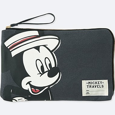 MICKEY TRAVELS POUCH, DARK GRAY, medium