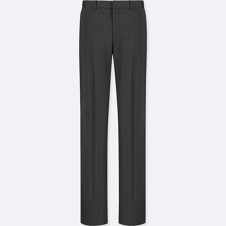 WOMEN STRETCH PANTS (ONLINE EXCLUSIVE), DARK GRAY, large