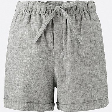 Damen Baumwoll-Leinen-Mix Relaxed Shorts