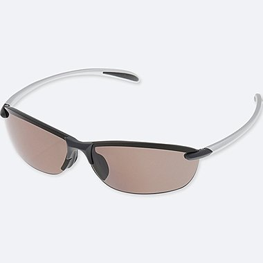 LIGHTWEIGHT HALF RIM SUNGLASSES, DARK GRAY, medium