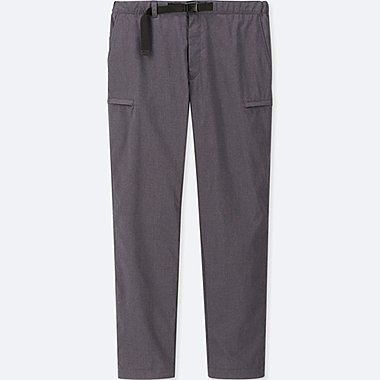 MEN WINDPROOF WARM-LINED PANTS, DARK GRAY, medium