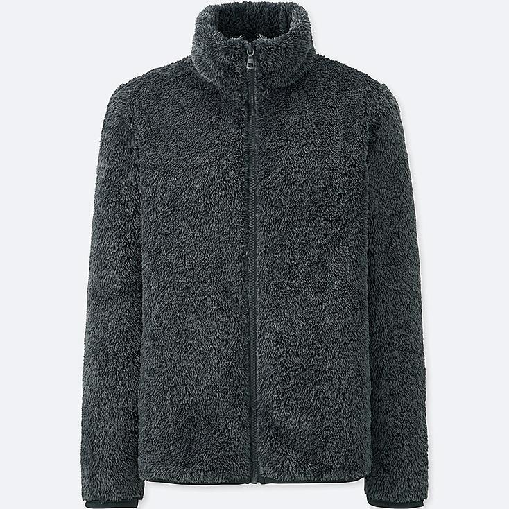 Women Fluffy Yarn Fleece Zipped Jacket Uniqlo