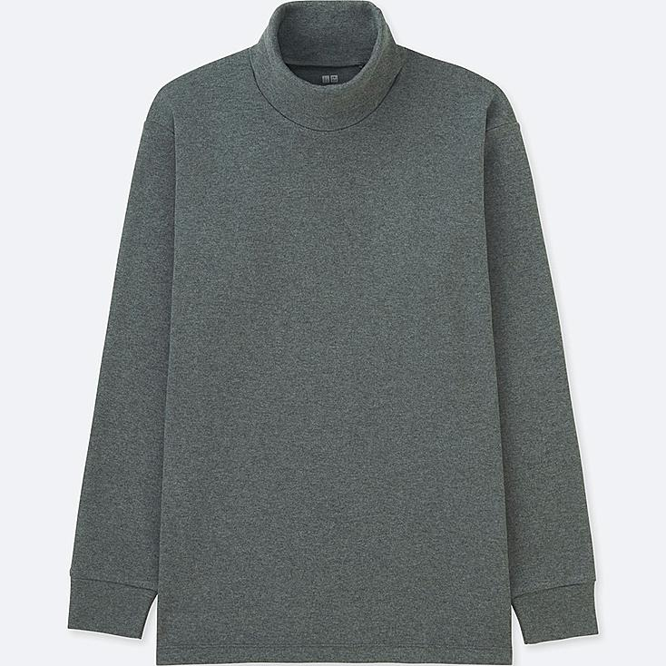 MEN SOFT TOUCH TURTLENECK LONG-SLEEVE T-SHIRT, DARK GRAY, large