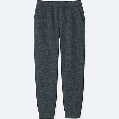 MEN WINDPROOF FLEECE PANTS, DARK GRAY, medium