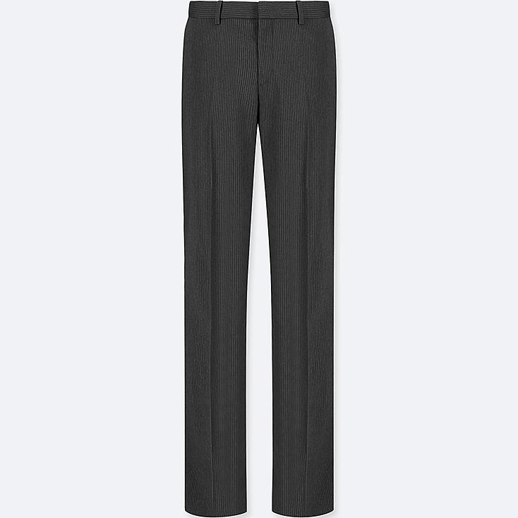 WOMEN STRETCH SET UP PANTS (ONLINE EXCLUSIVE), DARK GRAY, large