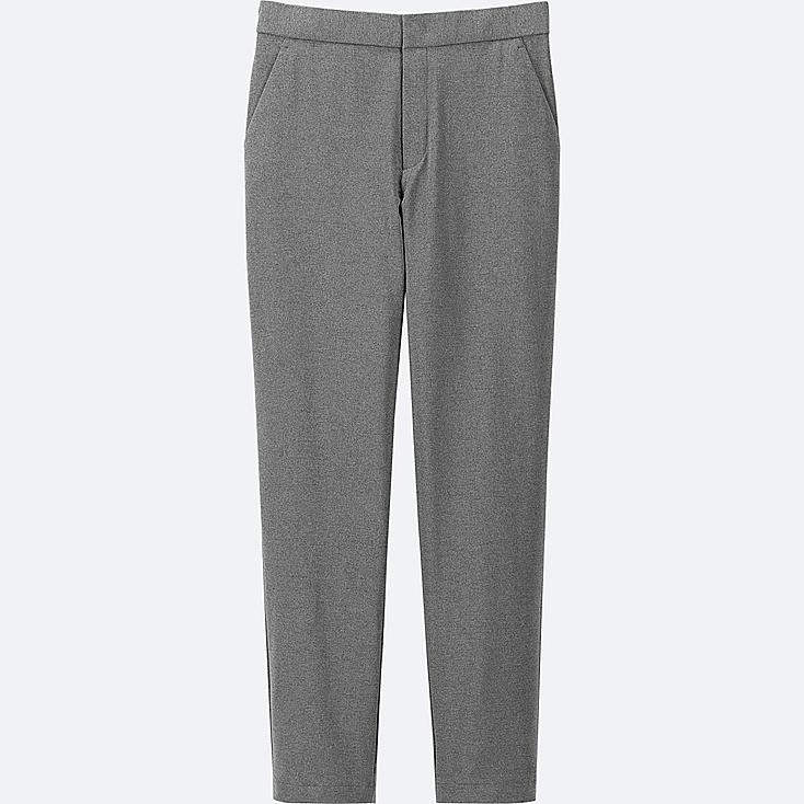 WOMEN WINDPROOF WARM-LINED PANTS, DARK GRAY, large