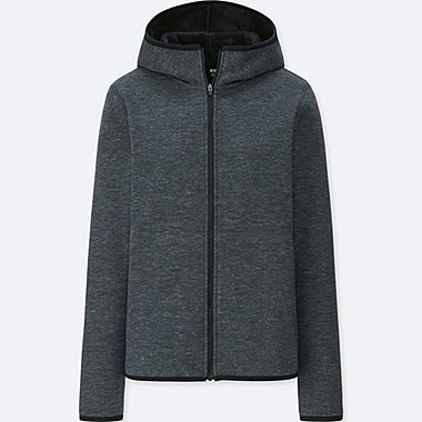 WOMEN WIND PROOF FLEECE LONG SLEEVE FULL-ZIP HOODIE