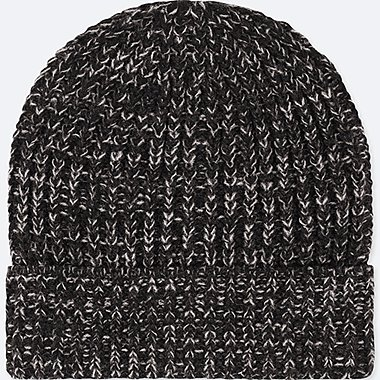 KIDS HEATTECH KNITTED CAP, DARK GRAY, medium
