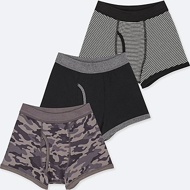 BOYS BOXER BRIEFS (SET OF 3), DARK GRAY, medium
