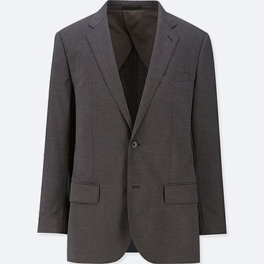 MEN STRETCH WOOL BLAZER JACKET