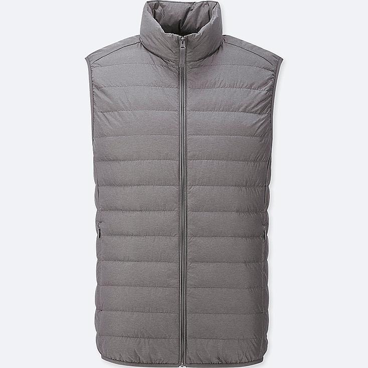 MEN ULTRA LIGHT DOWN VEST, DARK GRAY, large
