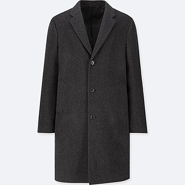 MEN CASHMERE WOOL BLEND CHESTERFIELD COAT