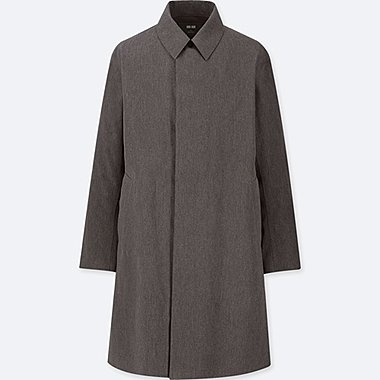 MEN BLOCKTECH SINGLE BREASTED COAT