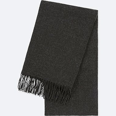 HEATTECH SCARF, DARK GRAY, medium
