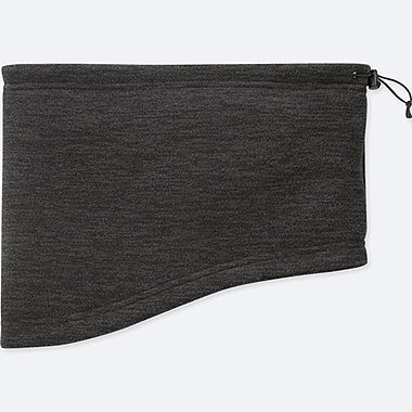 HEATTECH FLEECE NECK WARMER, DARK GRAY, medium