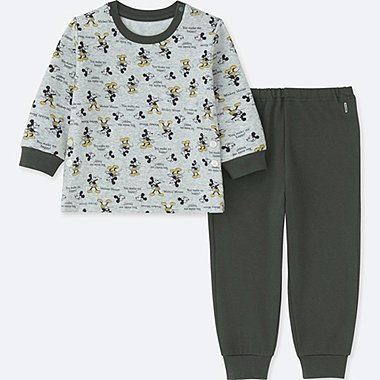 TODDLER DISNEY COLLECTION  LONG-SLEEVE PAJAMAS, DARK GRAY, medium
