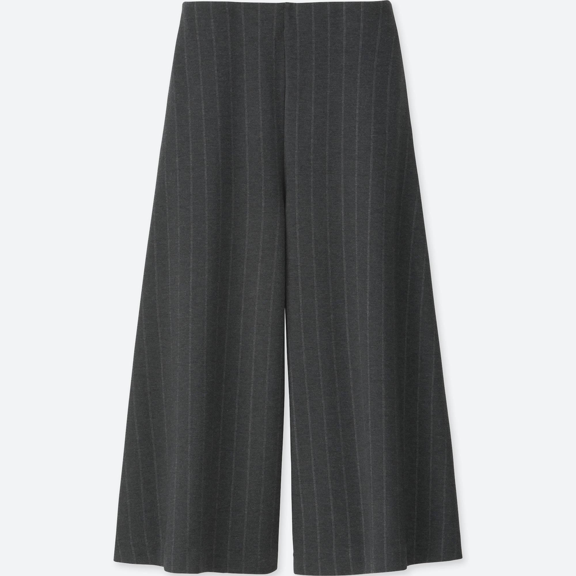ユニクロ/ パンツ women ponte flare cropped pants