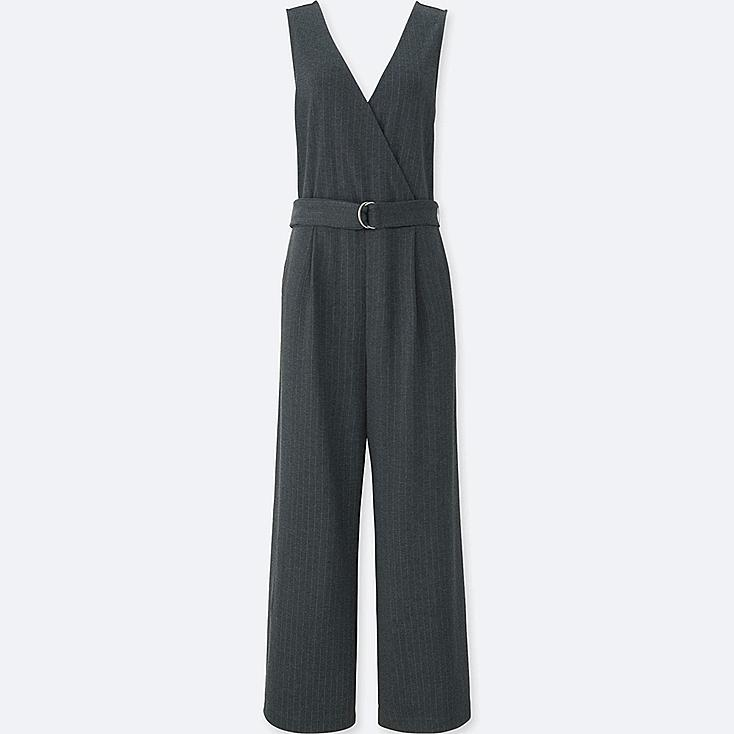 Uniqlo - WOMEN PONTE SLEEVELESS WRAP JUMPSUIT - 1