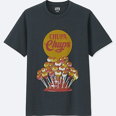 THE BRANDS SHORT-SLEEVE GRAPHIC T-SHIRT (CHUPA CHUPS), DARK GRAY, medium
