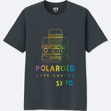THE BRANDS SHORT-SLEEVE GRAPHIC T-SHIRT (POLAROID), DARK GRAY, medium