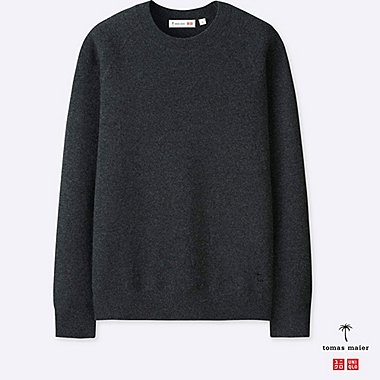 MEN Tomas Maier CASHMERE CREW NECK LONG SLEEVE SWEATER