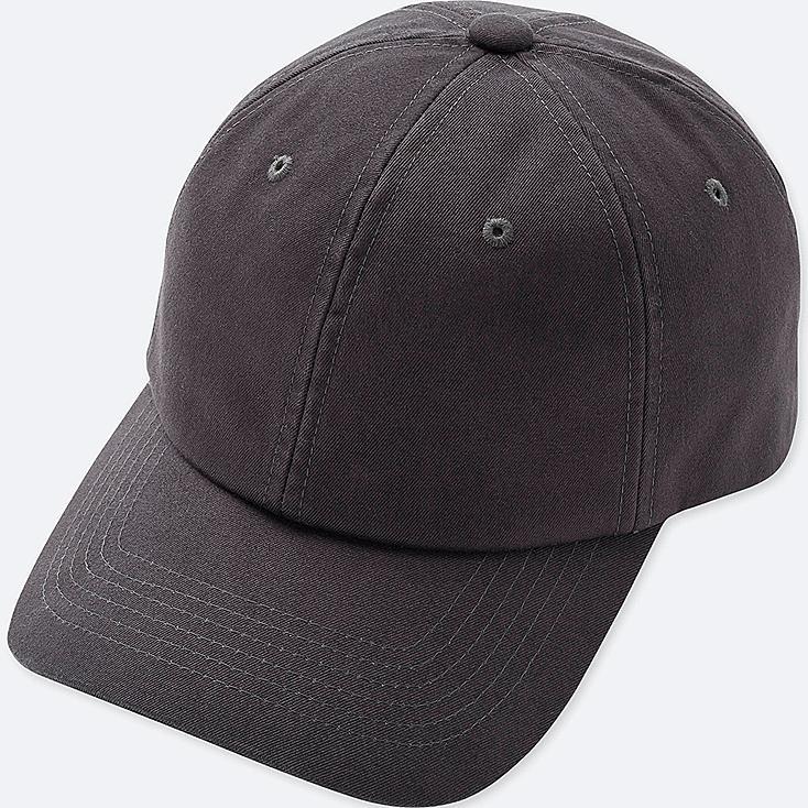 COTTON TWILL CAP, DARK GRAY, large