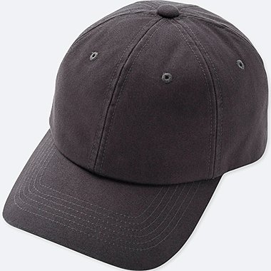 COTTON TWILL CAP, DARK GRAY, medium