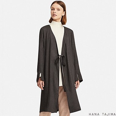 WOMEN HANA TAJIMA RAYON WRAP LONG SLEEVED TUNIC