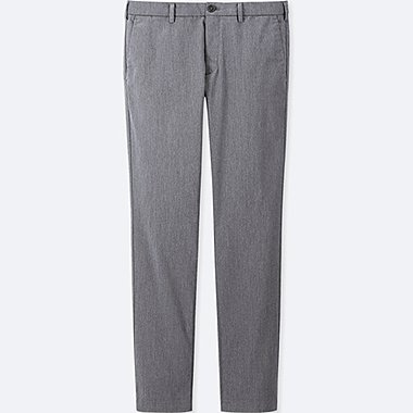 MEN SLIM-FIT CHINO FLAT-FRONT PANTS, DARK GRAY, medium