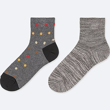 BOYS HALF SOCKS (SET OF 2), DARK GRAY, medium