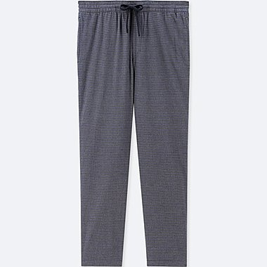 MEN FLANNEL EASY PANTS, DARK GRAY, medium