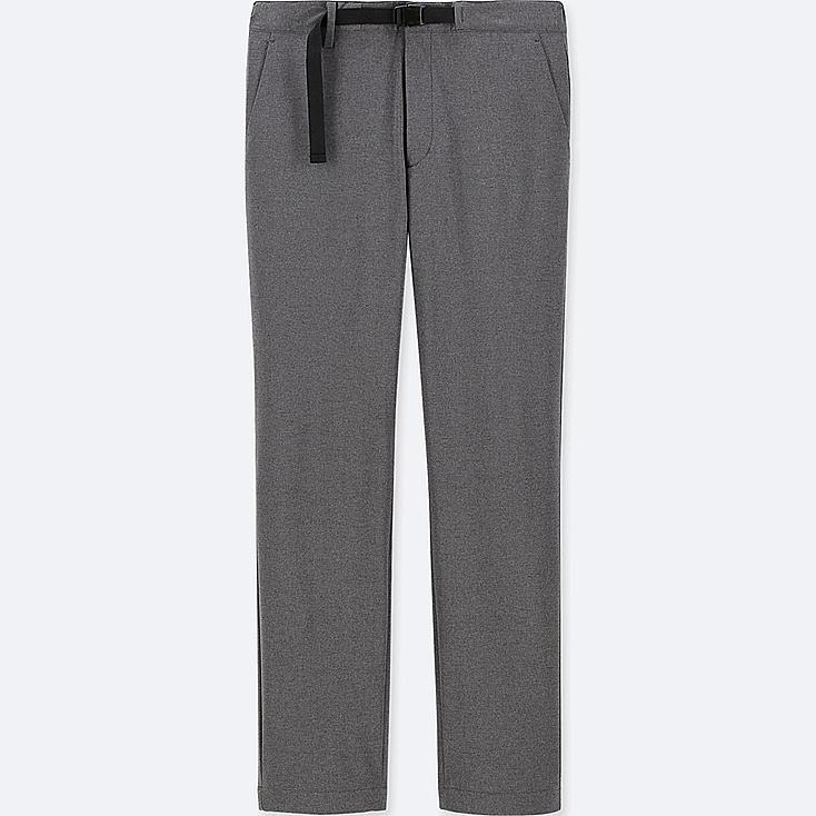 MEN WINDPROOF EXTRA WARM-LINED PANTS (ONLINE EXCLUSIVE), DARK GRAY, large