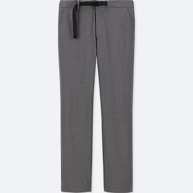 MEN WINDPROOF EXTRA WARM-LINED PANTS (ONLINE EXCLUSIVE), DARK GRAY, medium