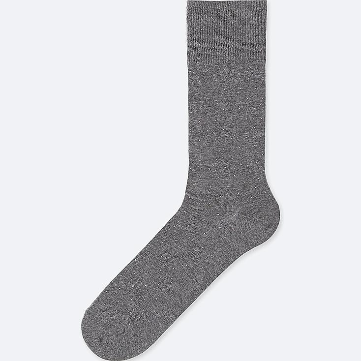 MEN SUPIMA® COTTON DOTS SOCKS, DARK GRAY, large