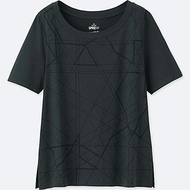 WOMEN SPRZ NY GRAPHIC T-SHIRT (FRANCOIS MORELLET), DARK GRAY, medium