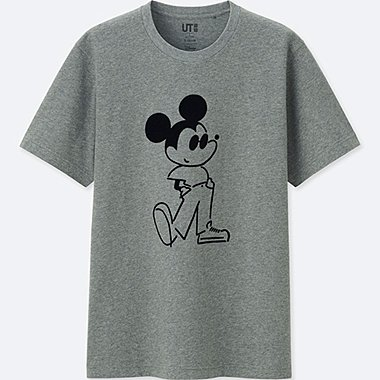 MICKEY ART SHORT-SLEEVE GRAPHIC T-SHIRT (YU NAGABA), DARK GRAY, medium
