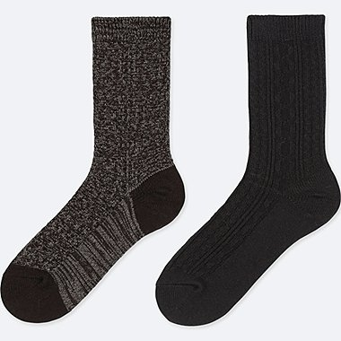 WOMEN HEATTECH SOCKS (2 PAIRS/CABLE)