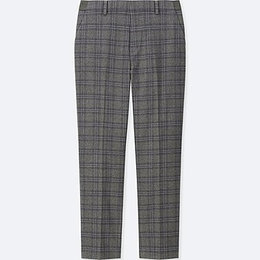 WOMEN EZY CHECKED FLANNEL ANKLE LENGTH TROUSERS