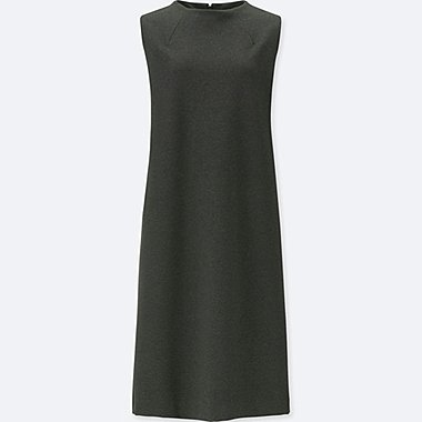 WOMEN PONTE KNIT SLEEVELESS MINI DRESS