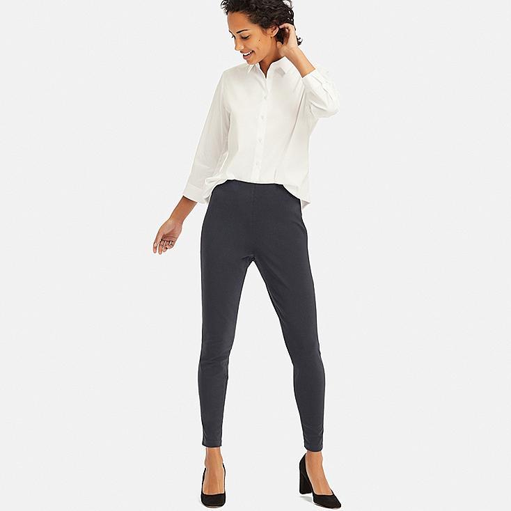 WOMEN SMART ANKLE LEGGINGS PANTS, DARK GRAY, large