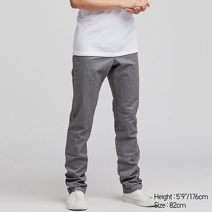 MEN SLIM-FIT CHINO FLAT-FRONT PANTS, DARK GRAY, large
