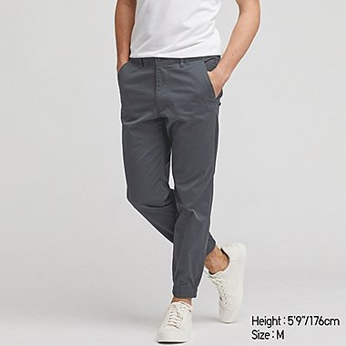 MEN PULL-ON COTTON JOGGER PANTS, DARK GRAY, medium