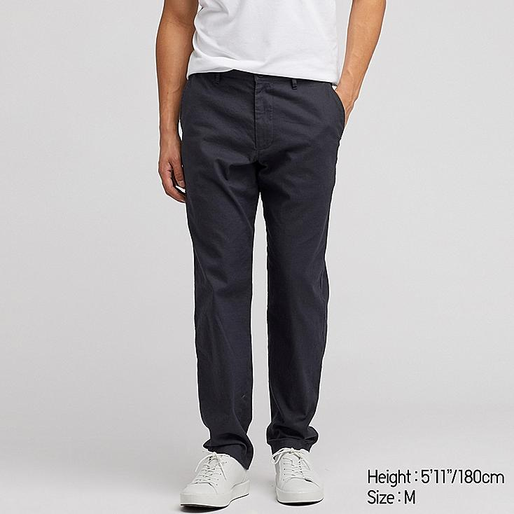 a00215270bc2 MEN LINEN BLEND RELAXED FIT TROUSERS