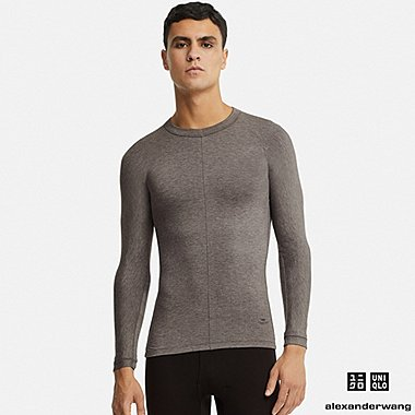 MEN HEATTECH EXTRA WARM LONG-SLEEVE T-SHIRT (ALEXANDER WANG), DARK GRAY, medium