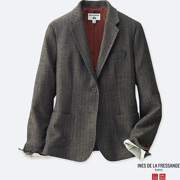 WOMEN Ines Soft Tweed Striped Jacket