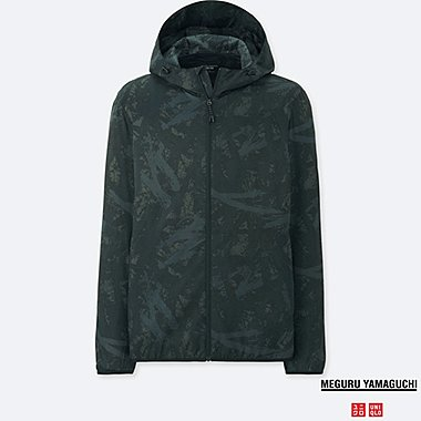 MEN PRINTED POCKETABLE PARKA (MEGURU YAMAGUCHI), DARK GRAY, medium