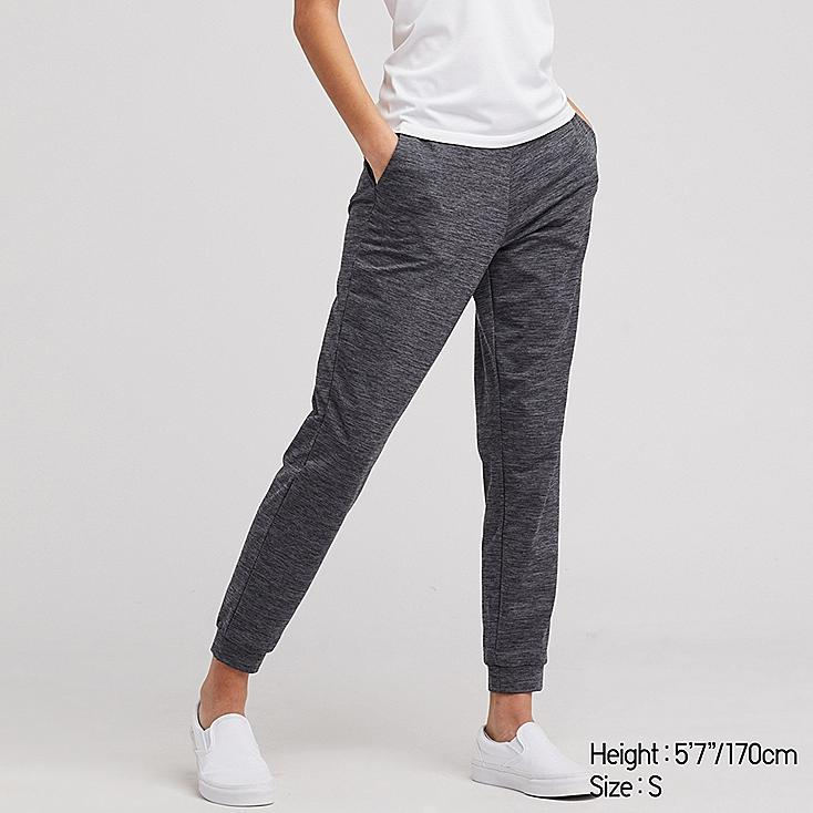 WOMEN ULTRA STRETCH ACTIVE ANKLE-LENGTH PANTS, DARK GRAY, large